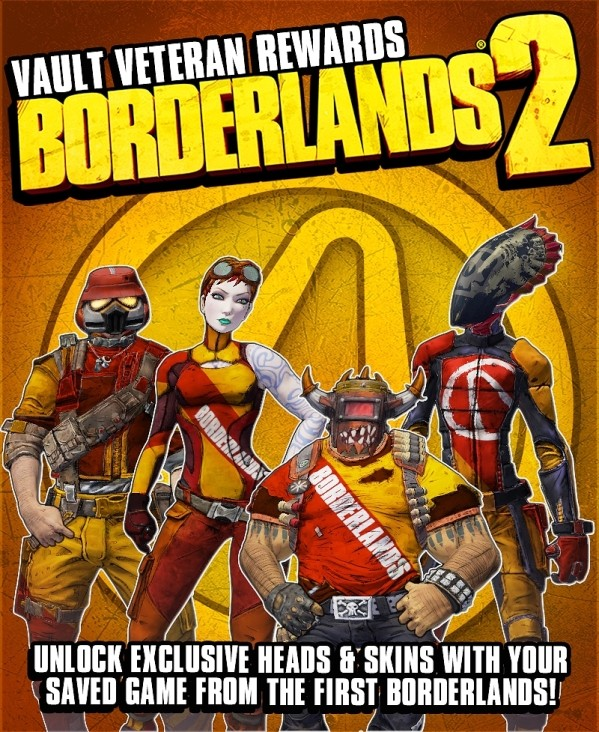 Borderlands hipsters get skins, heads with 'Vault Veterans' rewards