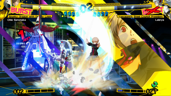 Persona 4 Arena review Robogirls and roman cancels