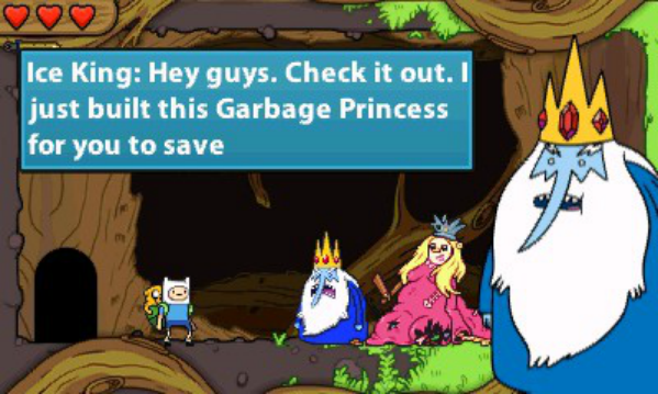 Adventure Time Hey Ice King! Why'd You Steal Our Garbage! review Hey Ice King, why'd you steal my heart
