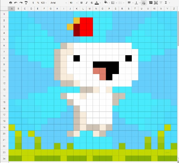 Fez fan art takes that spreadsheet joke to a whole new coordinate