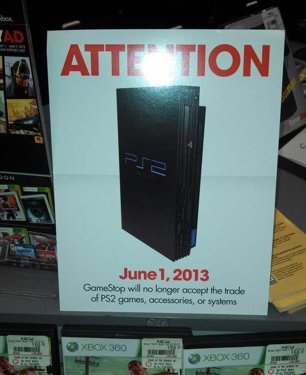 GameStop will stop taking PS2 tradeins as of June 1