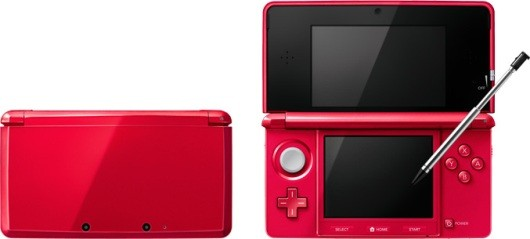Metallic Red 3DS, Eevee 3DS XL evolving in Japan