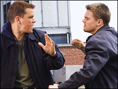 Matt Damon and Leonardo DiCaprio in The Departed