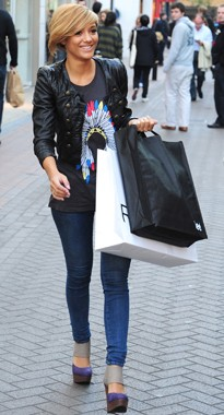 Frankie Sandford shopping in London