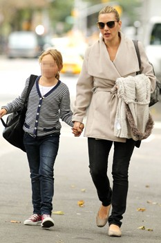 Kate Winslet and daughter in New York