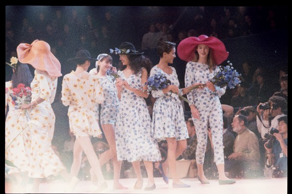 The finale at the Kenzo s/s 1989 show