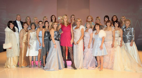Penny Lancaster and models at the Breast Cancer Care Fashion Show