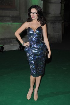 Kelly Brook spectacle wearer of the year