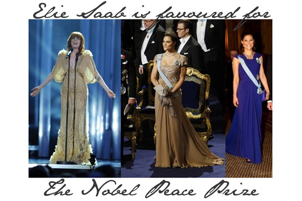Elie Saab outfits at the Nobel Peace Prize