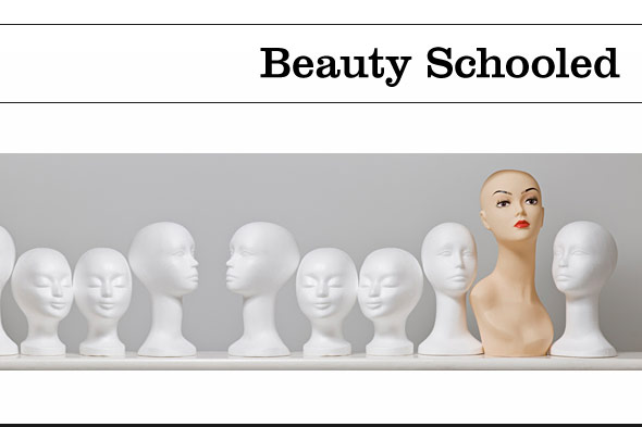 Beauty Schooled header with mannequins