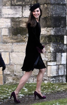 Kate Middleton Dons Black For A Wedding Rex Features