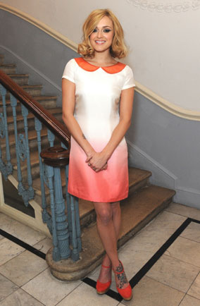 Fearne Cotton in a dress from her Very collection