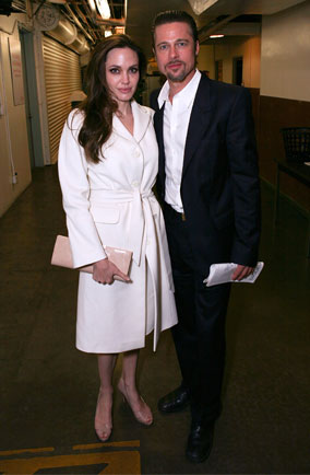 Brad and Angelina at the theatre