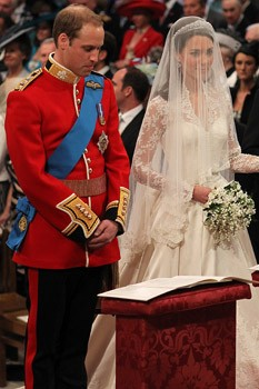 Prince William and Kate Middleton at the alter. They wrote their own wedding prayer. Catherine, Duchess of Cambridge.