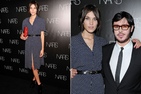 Alexa Chung and Francois Nars at the book launch party in New York