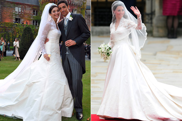 Snap is kate middleton 39 s wedding dress a copy of this for Wedding dress kate middleton style