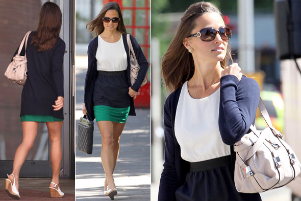 Pippa Middleton goes to work at her new job