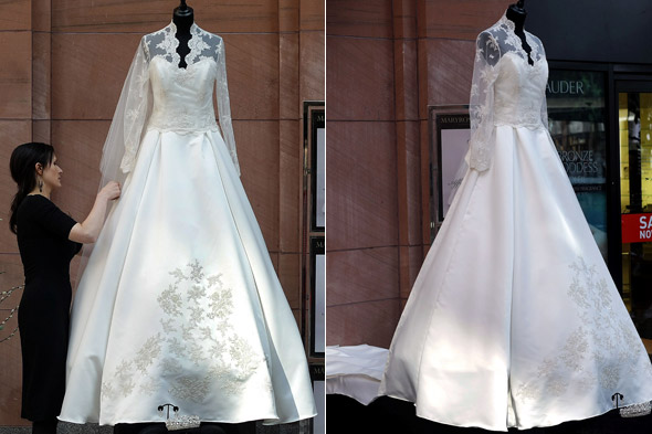 First Alexander McQueen Sarah Burton royal wedding dress copy hits the high street in House of Fraser