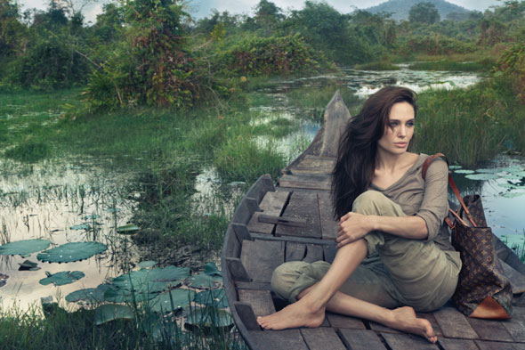 Angelina Jolie for Louis Vuitton Core Values ad campaign