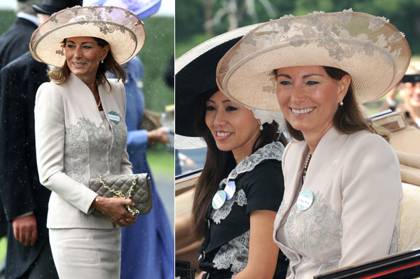 Carole Middleton joins the royal procession at Royal Ascot racecourse