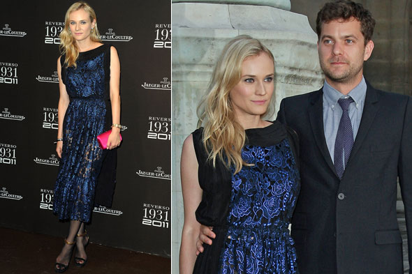 Diane Kruger and Joshua Jackson at the Jaeger-LeCoultre Reverso 80th anniversary party in Paris