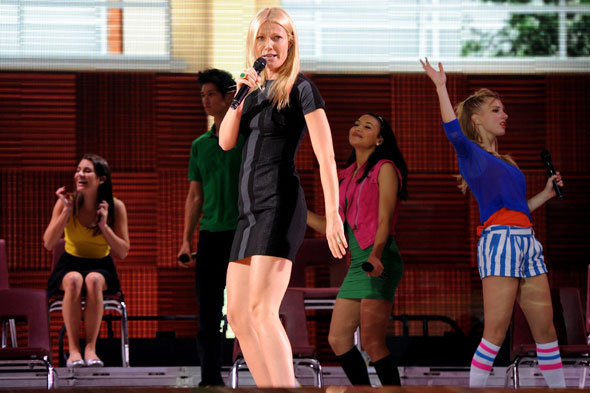 Gwyneth Paltrow was the surprise guest during the Glee Live show at the O2 arena last night