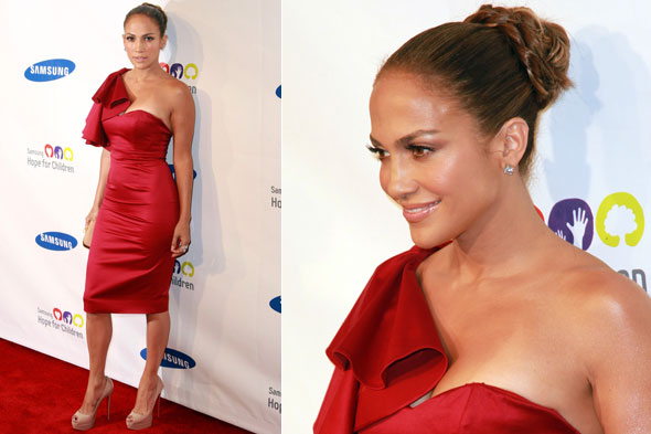 Jennifer Lopez in Temperley London at the Samsung Children for Hope Gala in New York