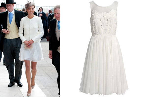 Kate Middleton wears Reiss Peacock dress to Epsom Derby