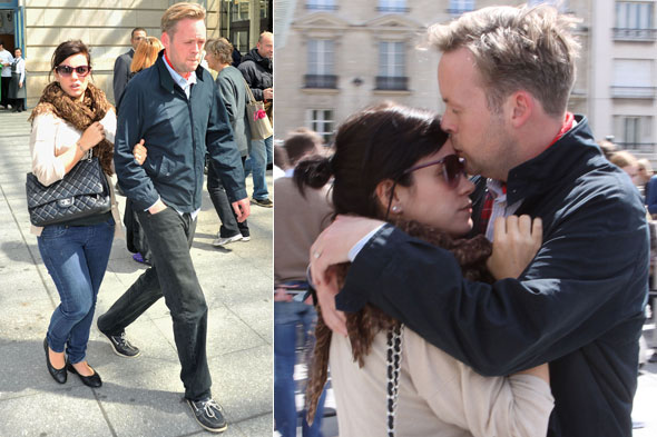 Lily Allen and Sam Cooper during their honeymoon in Paris