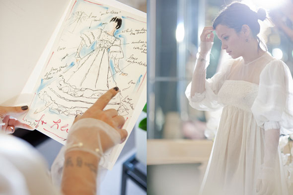 Is this Lily Allen's second wedding dress? Karl Lagerfeld posts picture on Chanel website