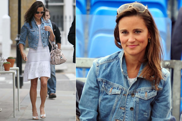 Pippa Middleton in tennis whites to watch Andy Murray play at Queens