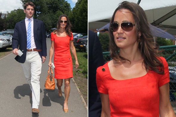 Pippa Middleton and Alex Loudon arrive at Wimbledon to watch Andy Murray