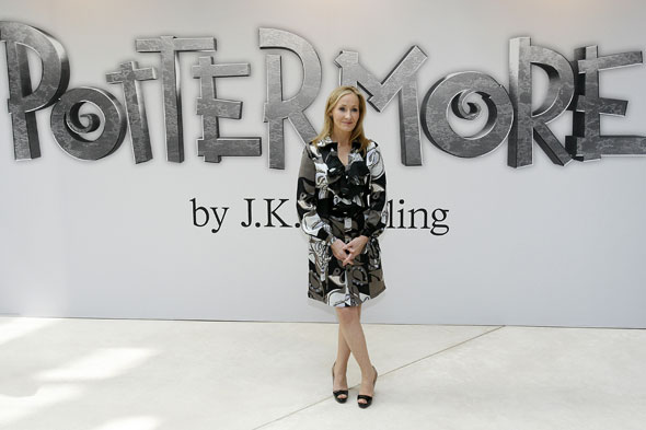 J.K. Rowling at the Pottermore launch at the Victoria and Albert Museum