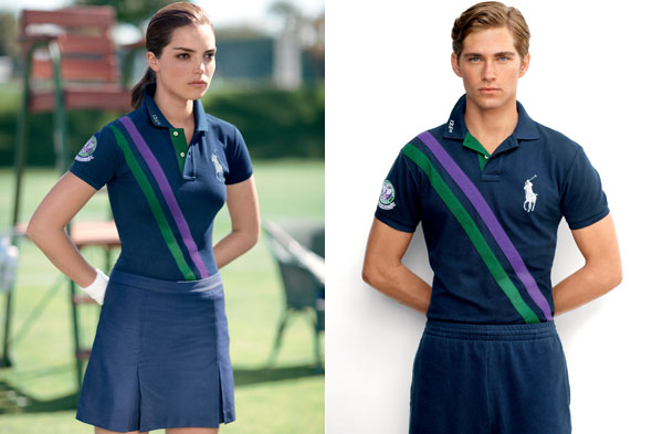 The new Ralph Lauren ball boy and ball girl uniforms designed in celebration of the 125th anniversary