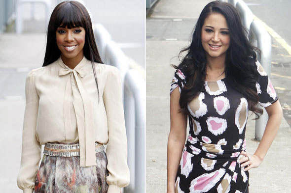 Kelly Rowland and Tulisa Contostavlos at the X Factor auditions in Scotland