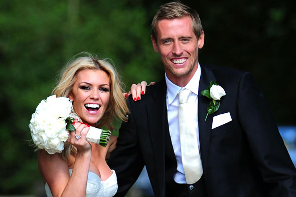 Abbey Clancy and Peter Crouch get married in Leicestershire