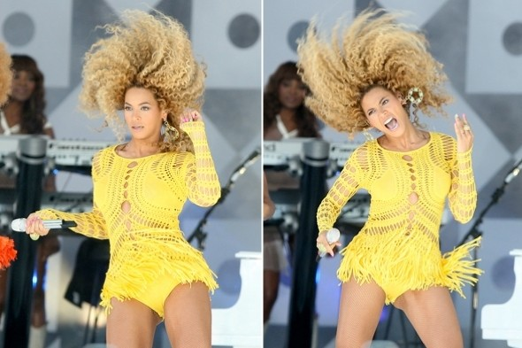 beyonce-central-park-yellow-hotpants-huge-hair-new-york