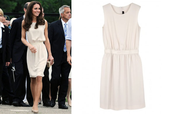 The cream Joseph Vanessa dress that Duchess Kate wore during her royal tour of Canada was an instant sell-out
