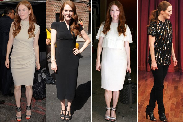 Julianne Moore on the promotional trail for Crazy, Stupid, Love