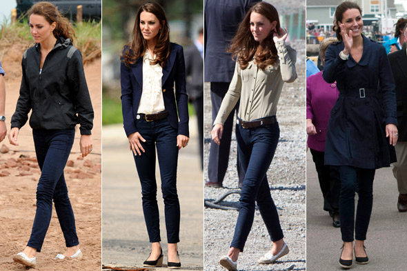 Duchess Kate wears the same J Brand jeans three days in a row during Canada tour