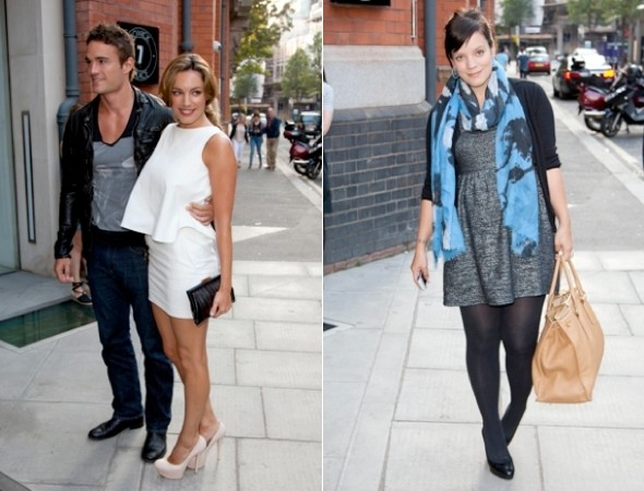 Lily-Allen-maternity-style-Kelly-Brook-white-minidress-wallpaper-party-pics
