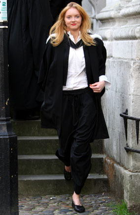 Lily Cole graduates from Cambridge University