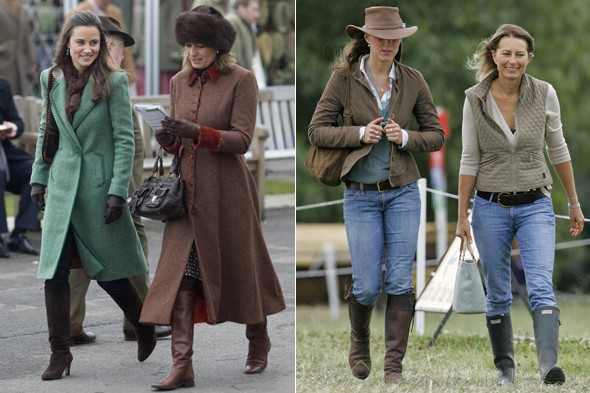 Do mothers dress like their daughters? Pippa, Kate and Carole Middleton
