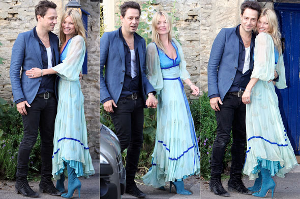 Kate Moss and Jamie Hince at their wedding rehearsal in the Cotswalds