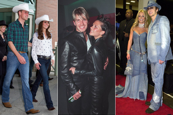 Kate Middleton and Prince William in cowboy hats, Britney Spears and Justin Timberlake in matching denim