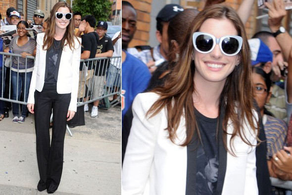 Anne Hathaway at The Daily Show with John Stewart