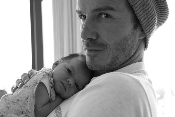 Daddy's girl: We can fully understand why VB wanted to share this gorgeous family snap. Photo:Twitter/Victoria Beckham