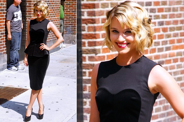 Glee's Dianna Agron in Stella McCartney on The Late Show with David Letterman