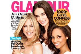 Glamour cover Jennifer aniston
