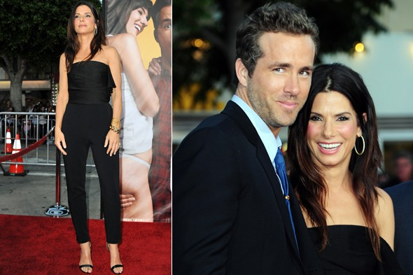 Sandra Bullock and Ryan Reynolds at The Change-Up premiere in LA